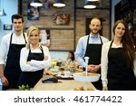 team photo of waiters and...   Shutterstock . vector #461774422