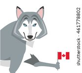 flat design big wolf icon...   Shutterstock .eps vector #461778802