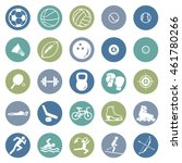 vector set of sport icons | Shutterstock .eps vector #461780266