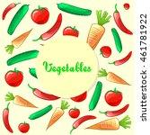 colorful ripe fresh vegetables... | Shutterstock .eps vector #461781922