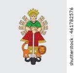 indian goddess durga...   Shutterstock .eps vector #461782576