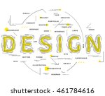 stroke thin line art design.... | Shutterstock .eps vector #461784616