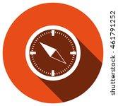 compass icon  vector  icon flat