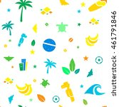 colorful brazil vector icons ... | Shutterstock .eps vector #461791846