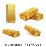 gold bar | Shutterstock .eps vector #461797255