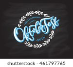 oktoberfest logotype. beer... | Shutterstock .eps vector #461797765