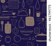 vector seamless pattern. hand... | Shutterstock .eps vector #461799775