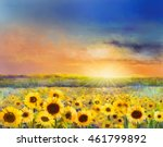 sunflower flower blossom.oil... | Shutterstock . vector #461799892