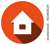 home icon  vector  icon flat