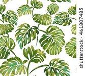 seamless pattern of  jungle...   Shutterstock .eps vector #461807485
