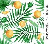 watercolor seamless pattern... | Shutterstock . vector #461809132