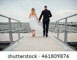 llovers hold hands and walk in... | Shutterstock . vector #461809876