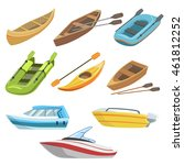 different types of boats... | Shutterstock .eps vector #461812252