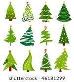 christmas trees | Shutterstock .eps vector #46181299