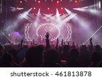 crowd at concert   cheering... | Shutterstock . vector #461813878