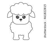 flat design cute sheep cartoon... | Shutterstock .eps vector #461822815