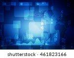 2d illustration business graph | Shutterstock . vector #461823166