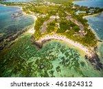 mauritius beach aerial view of... | Shutterstock . vector #461824312