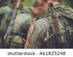 soldiers on patrol during a... | Shutterstock . vector #461825248