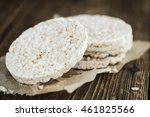 Portion Of Rice Cakes  Close U...