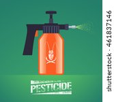 pest insects control spray... | Shutterstock .eps vector #461837146