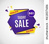 sale banner. | Shutterstock .eps vector #461837686