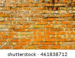 old wall of red and orange... | Shutterstock . vector #461838712
