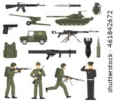 army icons collection with... | Shutterstock .eps vector #461842672