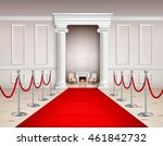 victorian style hall with red... | Shutterstock .eps vector #461842732