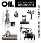 design set of oil industry... | Shutterstock .eps vector #46184542
