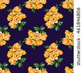 seamless pattern with orange... | Shutterstock . vector #461846806