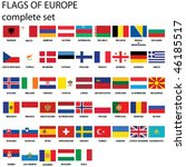 flags of europe  complete set ... | Shutterstock .eps vector #46185517