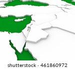 jordan map 3d illustration | Shutterstock . vector #461860972