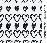 doodle seamless pattern with... | Shutterstock .eps vector #461865775