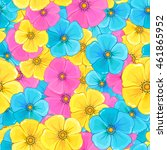 flowers seamless pattern... | Shutterstock .eps vector #461865952