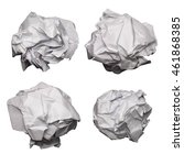 set of crumpled paper isolated...   Shutterstock . vector #461868385