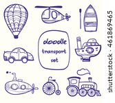 transport cartoon icon. set of... | Shutterstock .eps vector #461869465