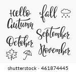 season life style inspiration... | Shutterstock .eps vector #461874445