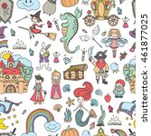 collection of vector fairy tale ... | Shutterstock .eps vector #461877025