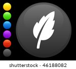 leaf icon on round internet... | Shutterstock .eps vector #46188082