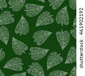 green seamless pattern...   Shutterstock .eps vector #461902192