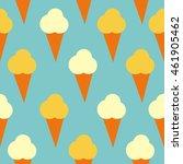 seamless summer ice cream... | Shutterstock .eps vector #461905462