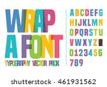 vector of font and alphabet in... | Shutterstock .eps vector #461931562