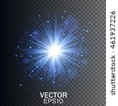 transparent glow light effect.... | Shutterstock .eps vector #461937226