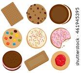cookies and biscuits vector... | Shutterstock .eps vector #461945395
