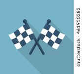 racing flag icon flat style... | Shutterstock .eps vector #461950282