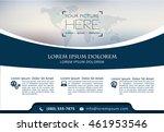 vector brochure  flyer ... | Shutterstock .eps vector #461953546