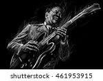Blues  And Jazz Musician With ...