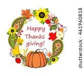 autumnal floral frame for... | Shutterstock .eps vector #461960818