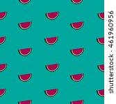 watermelon slice shape pattern | Shutterstock .eps vector #461960956